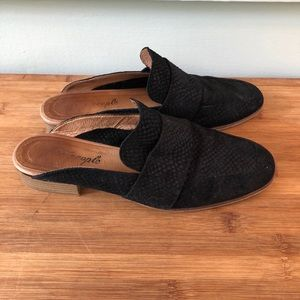 Free People Black At Ease Loafer Shoes Suede Mules